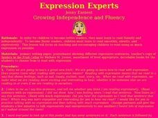 Expression Experts Lesson Plan