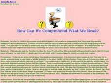 How Can We Comprehend What We Read? Lesson Plan