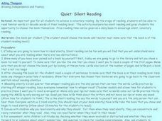 Quiet-Silent Reading Lesson Plan