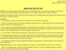 Apples and Jam for Pam Lesson Plan