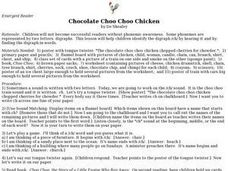Chocolate Choo Choo Chicken Lesson Plan