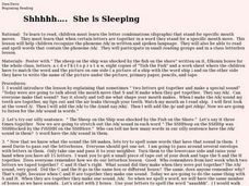 Shhhhh, She is Sleeping Lesson Plan
