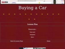 Buying a Car Lesson Plan