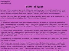 Shhh! Be Quiet Lesson Plan