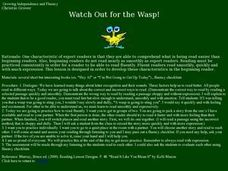 Watch Out for the Wasp! Lesson Plan