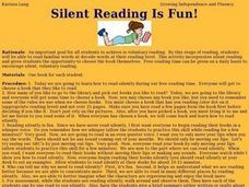 Silent Reading Is Fun! Lesson Plan