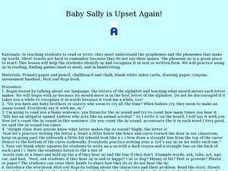 Baby Sally is Upset Again! Lesson Plan