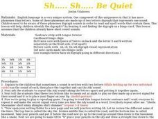 Sh...Sh...Be Quiet Lesson Plan