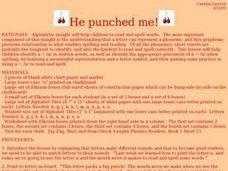 He punched me Lesson Plan