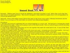Sweet Feet Lesson Plan