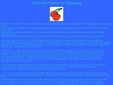 Cheerful Children Chanting Lesson Plan