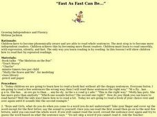 """Fast As Fast Can Be..."" Lesson Plan"
