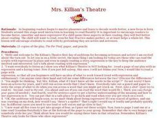 Mrs. Killian's Theatre Lesson Plan