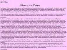 Silence is a Virtue Lesson Plan