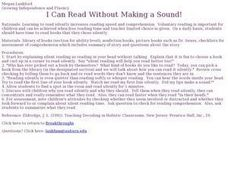 I Can Read Without Making a Sound! Lesson Plan