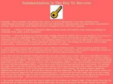 Summarization Is The Key To Success Lesson Plan