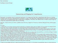 Summarizing and Mapping for Comprehension Lesson Plan