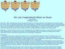 We can Comprehend What we Read Lesson Plan