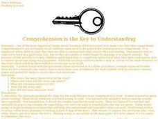 Comprehension is the Key Lesson Plan