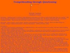 Comprehending Through Questioning Lesson Plan