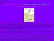 People to Read About, Places to Go (In Your Mind), and Lesson Plan