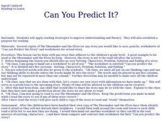 Can You Predict It? Lesson Plan