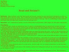 Read and Retain Lesson Plan