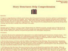 Story Structures Help Comprehension Lesson Plan