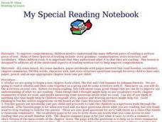 My Special Reading Notebook Lesson Plan