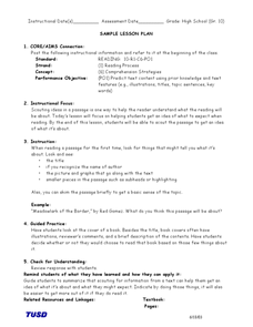 Comprehension Strategies: Previewing a Passage Lesson Plan