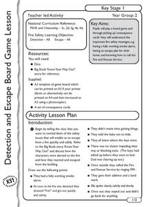Deterction and Escape Board Game Lesson Plan