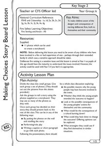 Making Choices Story Board Lesson Plan