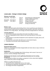 Energy And Climate Change Lesson Plan