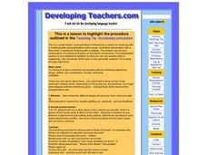 Teaching Tip -Vocabulary procedure Lesson Plan