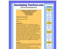 Teaching Listening Lesson Plan