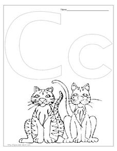 C is for Cat Lesson Plan