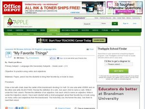 My Favorite Things Lesson Plan