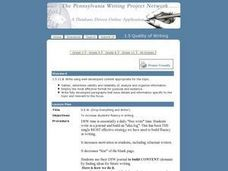 D.E.W. (Drop Everything and Write!) Lesson Plan
