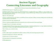 Ancient Egypt: Connecting Literature and Geography Lesson Plan