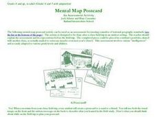 Mental Map Postcard Lesson Plan