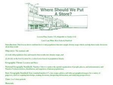 Where Should We Put a Store? Lesson Plan