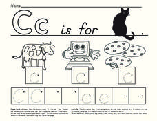 C is for Cat Worksheet