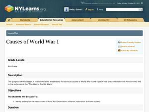 Causes of World War I Lesson Plan