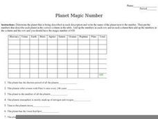 Planet Magic Number Worksheet