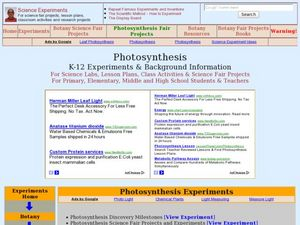 Photosynthesis Lesson Plan