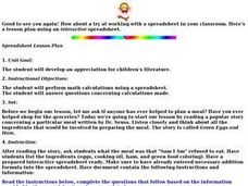 Children's Literature: math calculations Lesson Plan