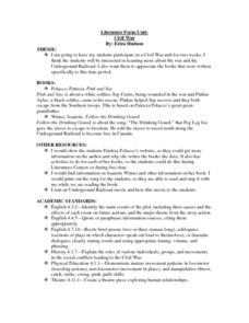 Literature Focus Unit:  Civil War Lesson Plan