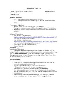 expanded form lesson plan  Expanded Form and Place Values Lesson Plan for 16rd Grade ...