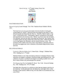 Harriet The Spy Lesson Plan