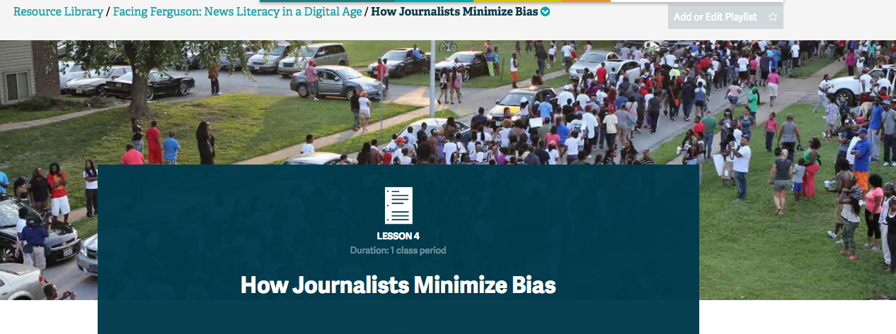 How Journalists Minimize Bias Lesson Plan